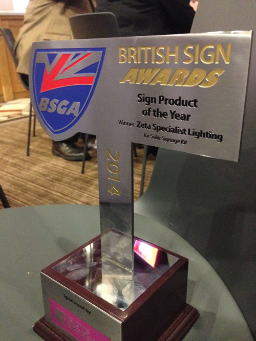 British Sign Awards 2014 Trophy