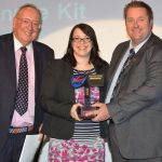 Kevin Batham Accepts Sign Product of the Year Award 2014