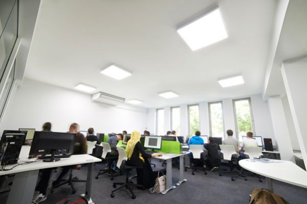 Zeta PRO Ultra Slim Ceiling Panels at Banbury College computer room