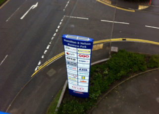 Two business parks, one solar powered signage solution