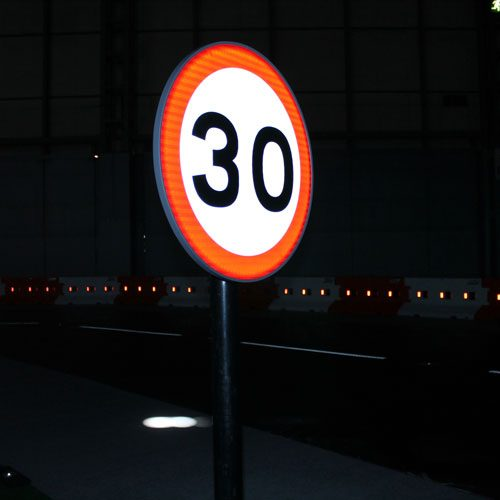 Zeta LED Road Sign at Traffex square