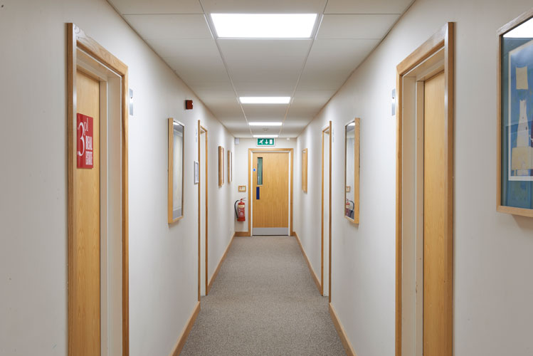 Zeta Specialist Lighting helps enhance serviced office building