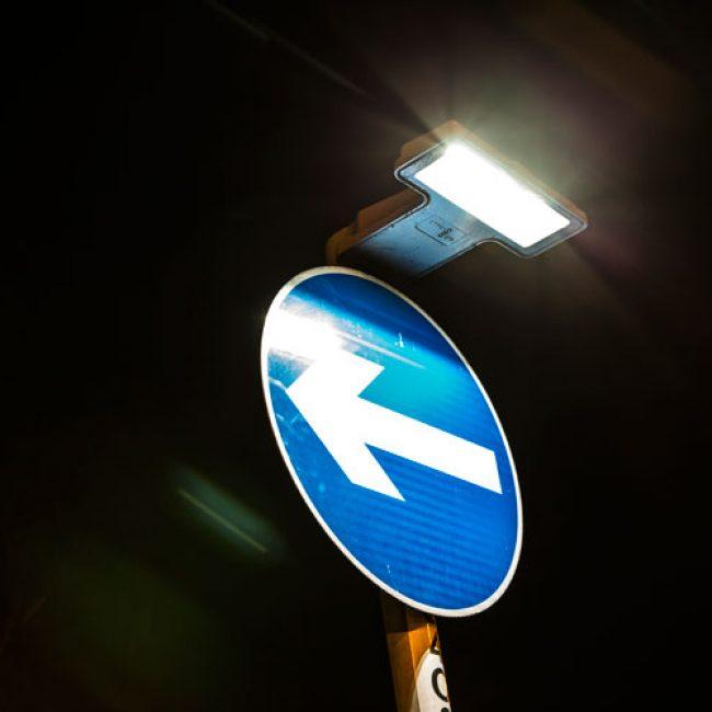 Zeta SignLite LED Blade in Nottingham lower view bright