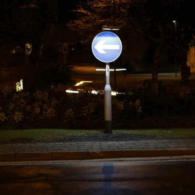 Zeta SignLite LED Blade in Nottingham front view