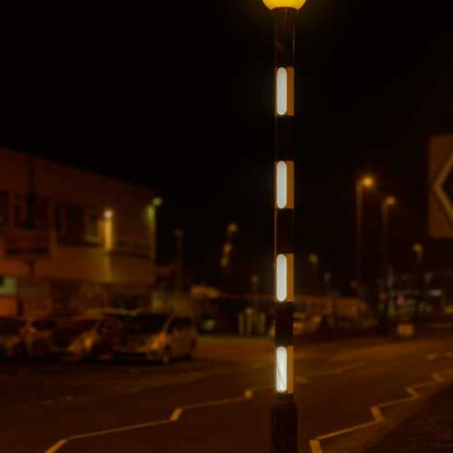 Zeta LED Belisha Pole Illumination Kit in Leeds portrait
