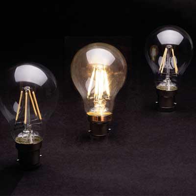 Zeta GLS LED Lamp dark x3