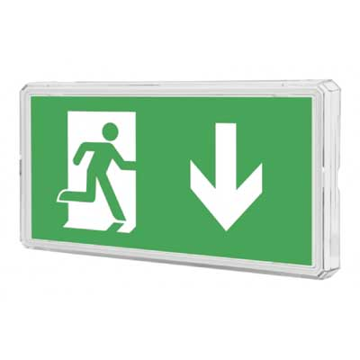 Zeta Emergency Exit LED Box square