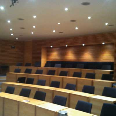 Zeta LED Downlights at Said Business School, Oxford square