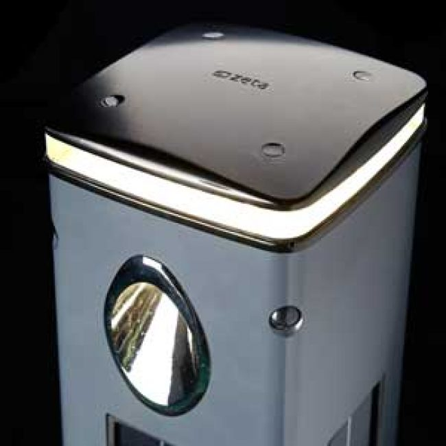 SmartScape Solar Bollard aluminium top lit cropped