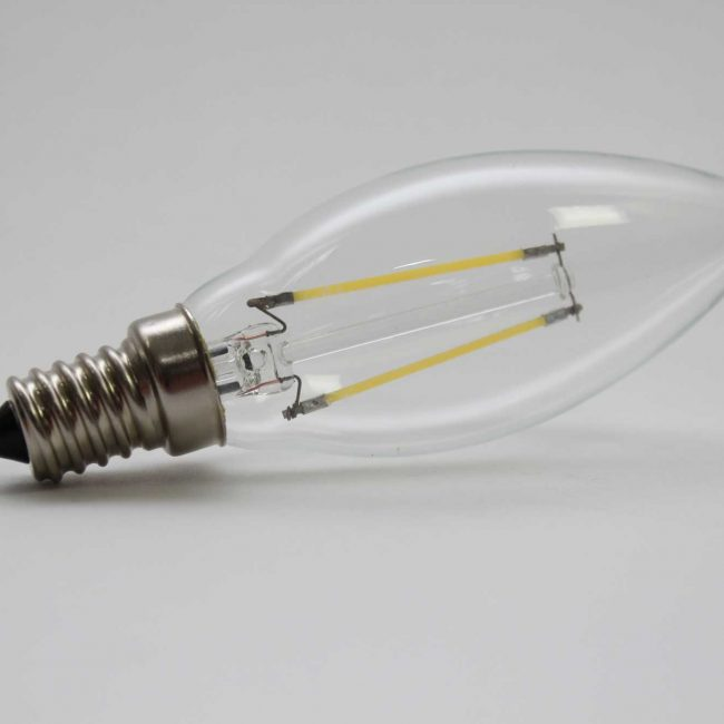 Zeta Candle LED Lamp side view