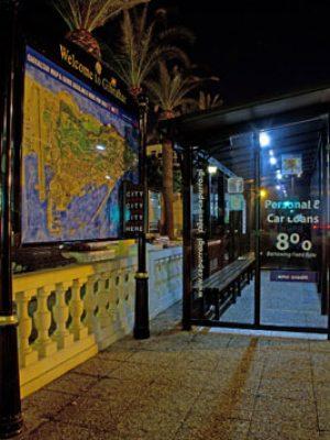 Zeta Solar Shelter Lighting Kit in Gibraltar shelter side blue