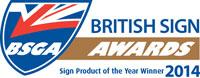 BSGA British Sign Awards 2014 winner colour small