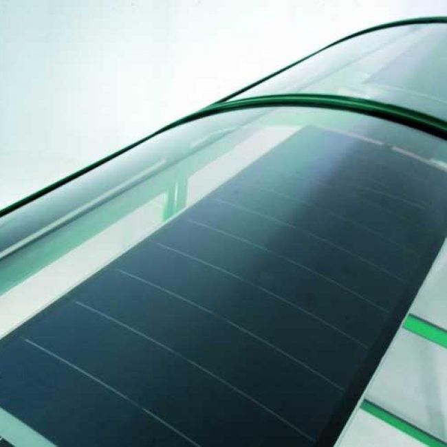 Zeta Solar Shelter Lighting Kit PV on green shelter