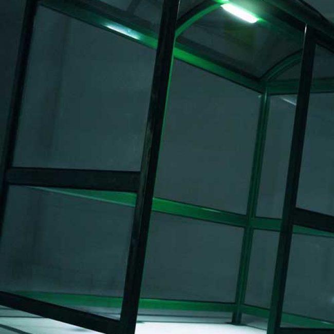 Zeta Solar Shelter Lighting Kit in green shelter