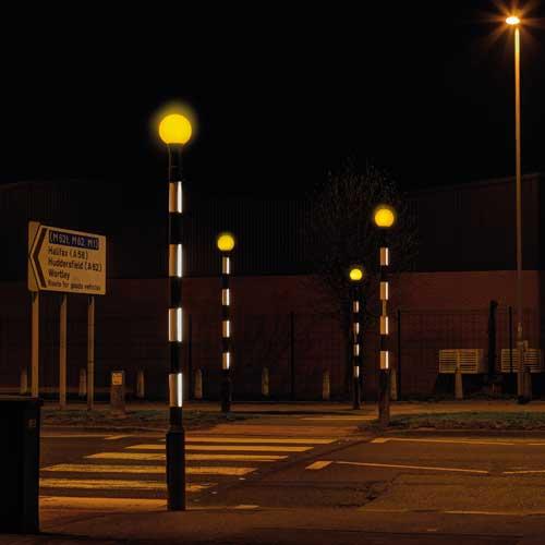 Zeta LED Belisha Pole Illumination Kit in Leeds 4 poles square