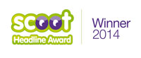 Scoot Headline Award 2014 winner colour small