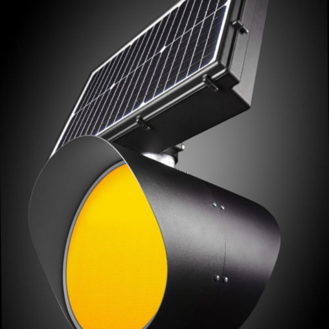 Zeta Solar Belisha with rotatable PV and LED's