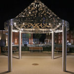Suzanne O'Driscoll artwork at Kingsmere illuminated with Zeta LED